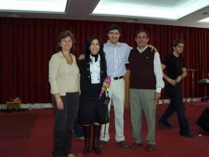 Los pastores con Marcos Vidal y su esposa en el Retiro de 2008